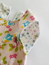 The Wishfairy Bunty Baby Dress (Bluebirds on Rose)