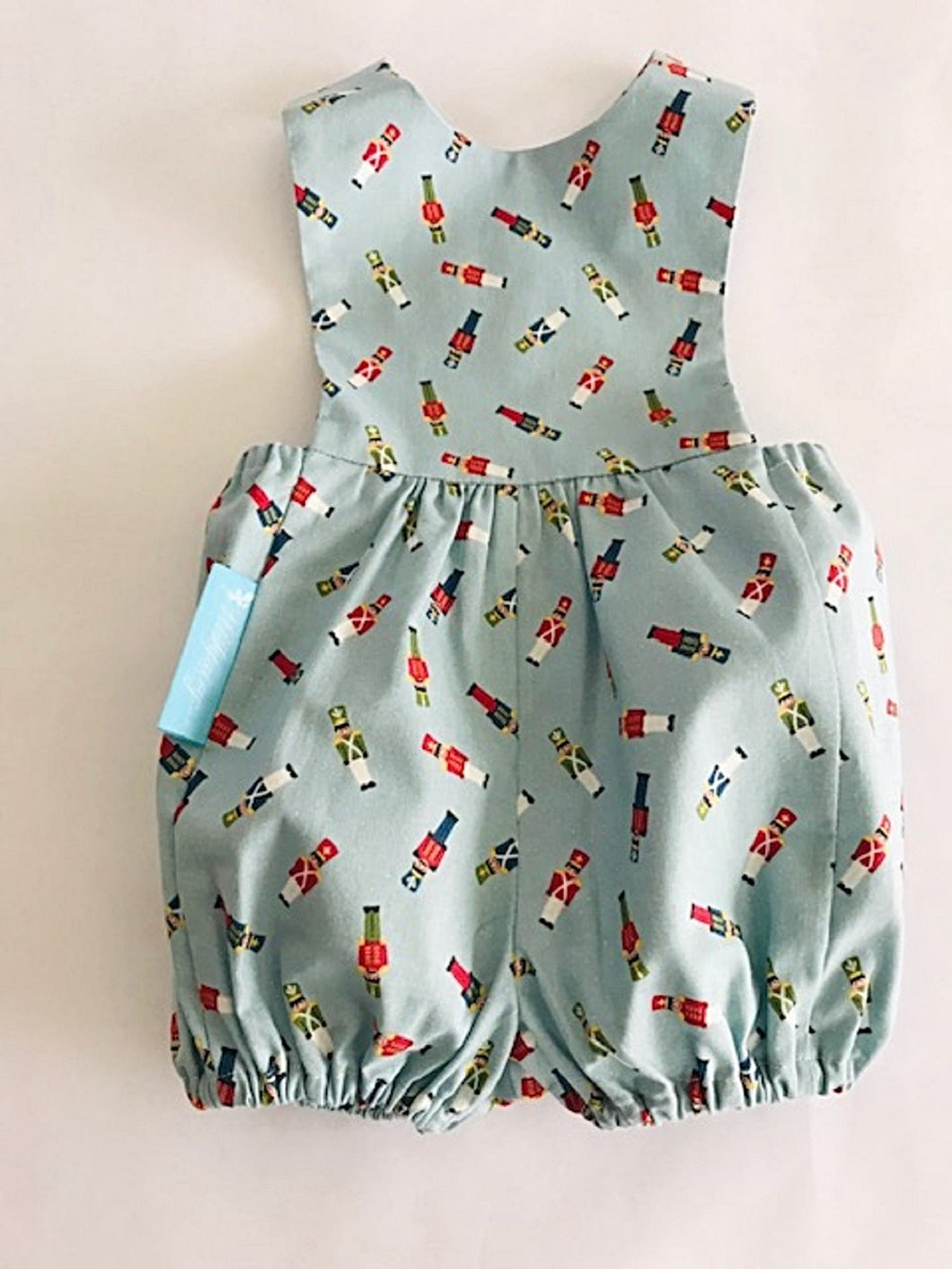 The Wishfairy Baby Riley Romper Suit (Toy Soldiers on Blue)