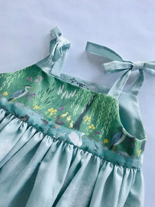 The Wishfairy Abbie Dress 'Down by the Riverside Swan Border'