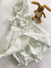 The Wishfairy Baby Willow Dress with Pants and Headwrap Bow 'Love you to the Moon and Back'