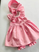 The Wishfairy Baby Willow Dress with Pants and Headwrap Bow 'Words of Love Fabric'