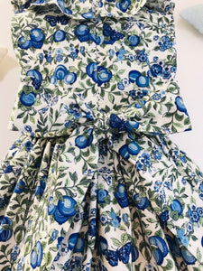 The Wishfairy Orla Dress 'Liberty Orchard Blue'