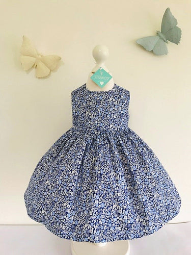 The Wishfairy Bunty Baby Dress (Liberty Primula Dawn)