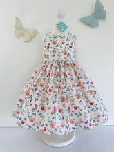 The Wishfairy Eve Dress 'Butterflies and Bluebirds on Wild Flowers'