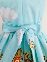 The Wishfairy Eve Dress 'Zoe the Giraffe and Buddies Border'