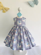 The Wishfairy Bunty Baby Dress (Pastel Blooms on Lilac)