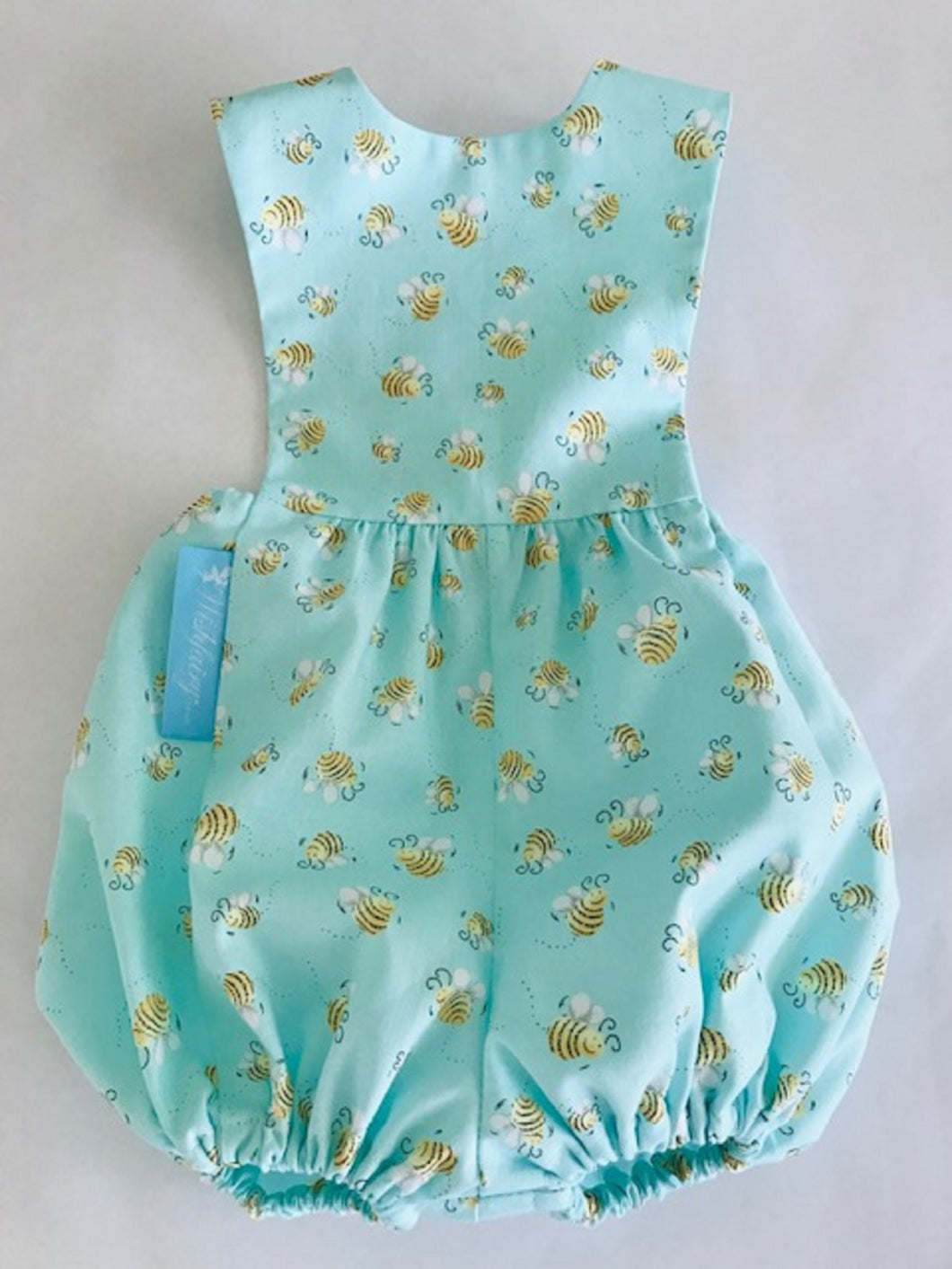The Wishfairy Baby Riley Romper Suit (Buzzy Bees on Blue)