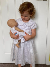 The Wishfairy Danielle Dress 'Little Grey Sheep on White'