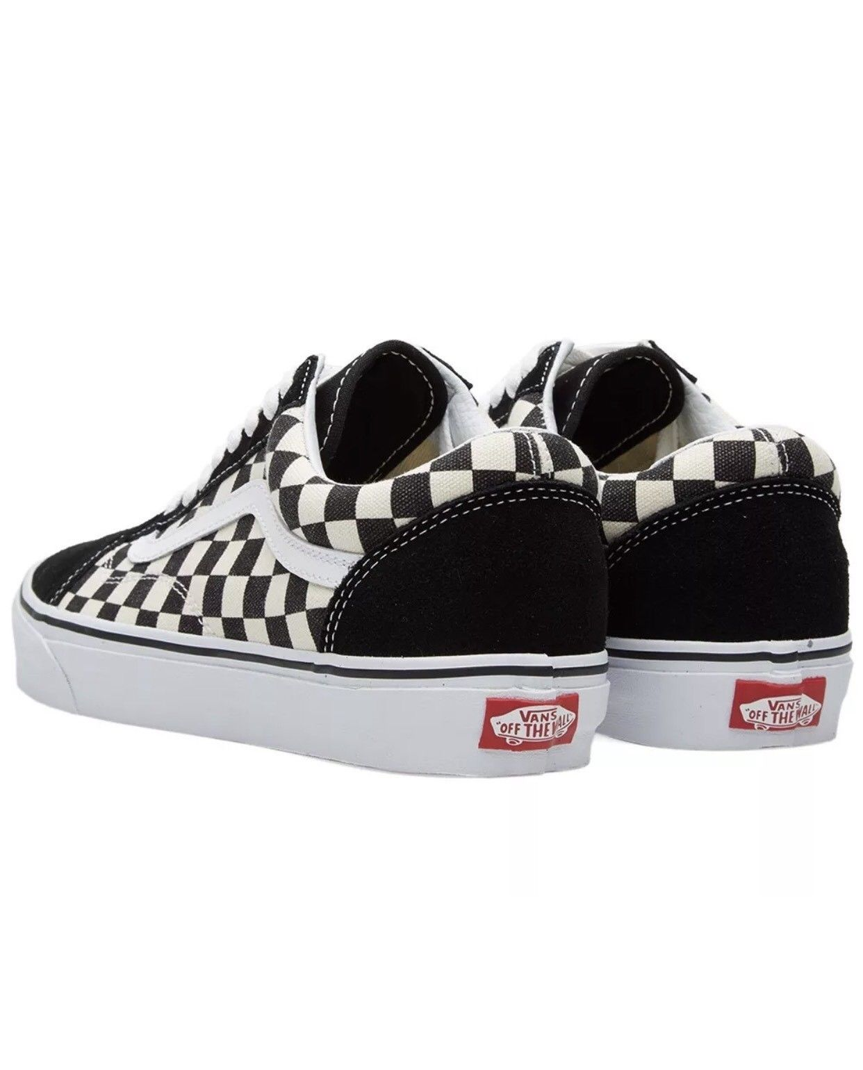 5f9e665f1caf68 ... Vans Old Skool Primary Check Black White Checkerboard Skate Shoes Size  US 9 New ...
