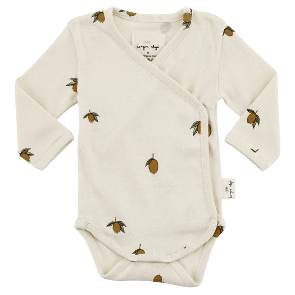 Organic Cotton Newborn Body - Lemon Print