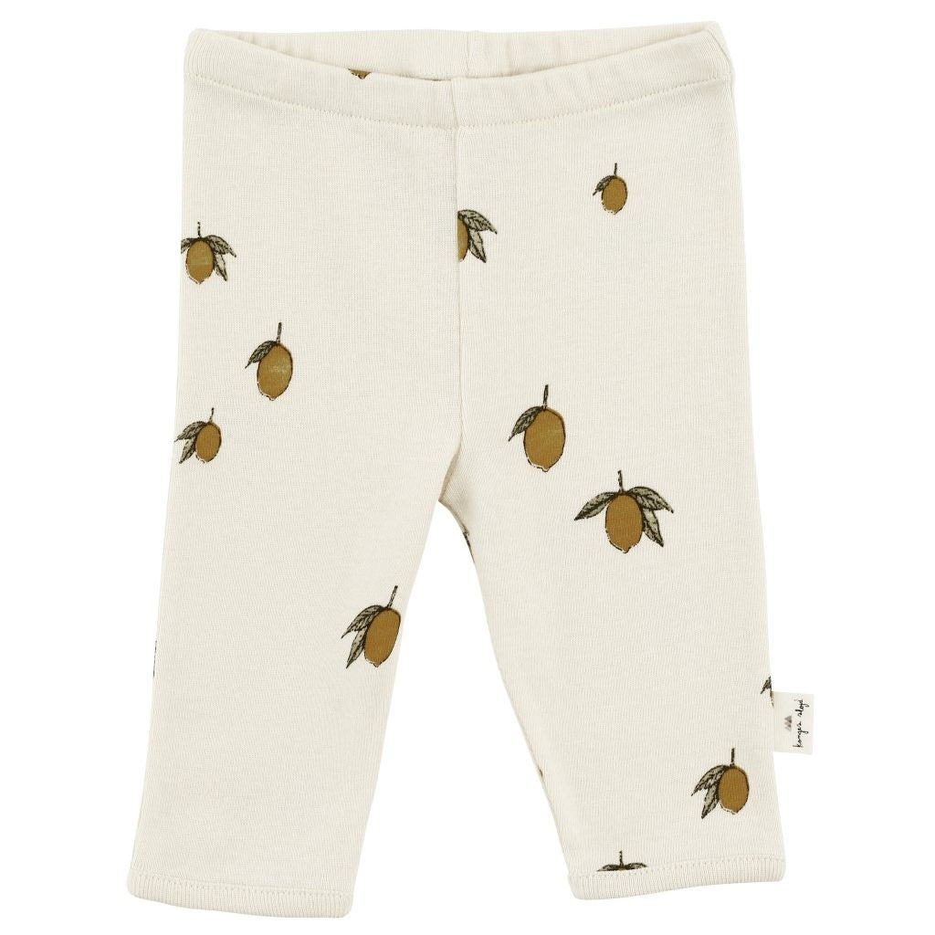 Organic Cotton Newborn Leggings - Lemon
