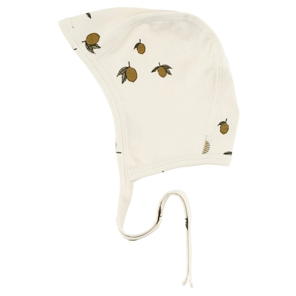 Organic Cotton Newborn Bonnet - Lemon Print
