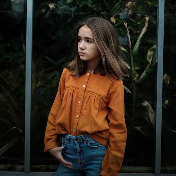 Organic Cotton Blouse - Marmalade (10Y - 14Y)