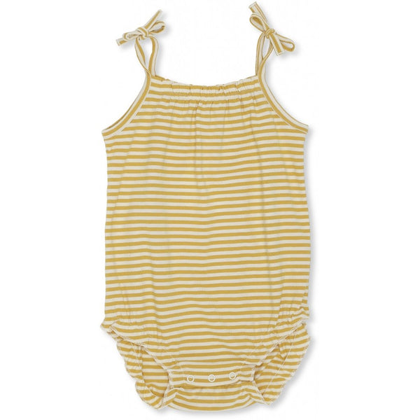 Konges Slojd Organic Cotton Newborn Rey Romper Sunspell Stripes