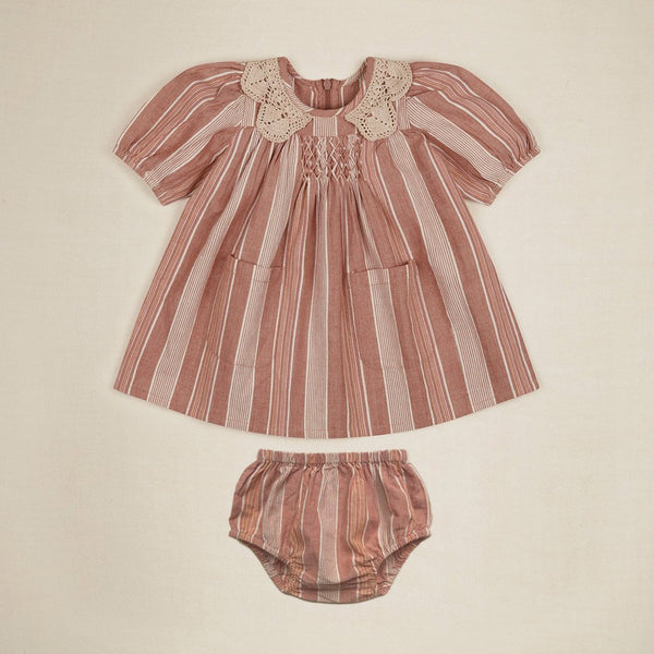 Apolina Kids VIOLA DRESS - RAINBOW STRIPE