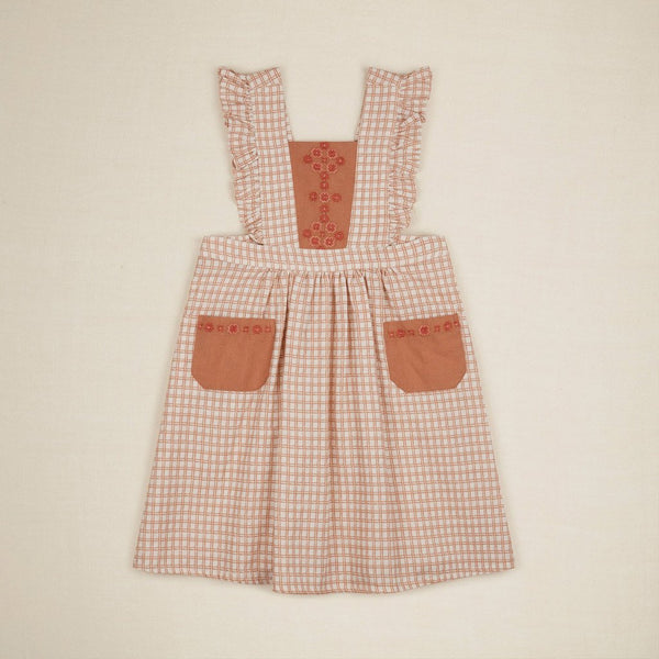 Apolina Kids FELICITY PINAFORE DRESS - PICNIC CHECK
