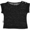 Poudre Organic Organic Linen Tshirt bourrache - pirate black