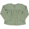 Organic Linen Blouse - Oil Green (10Y)