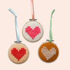Cotton Clara Cross Stitch Felt Hearts Kit