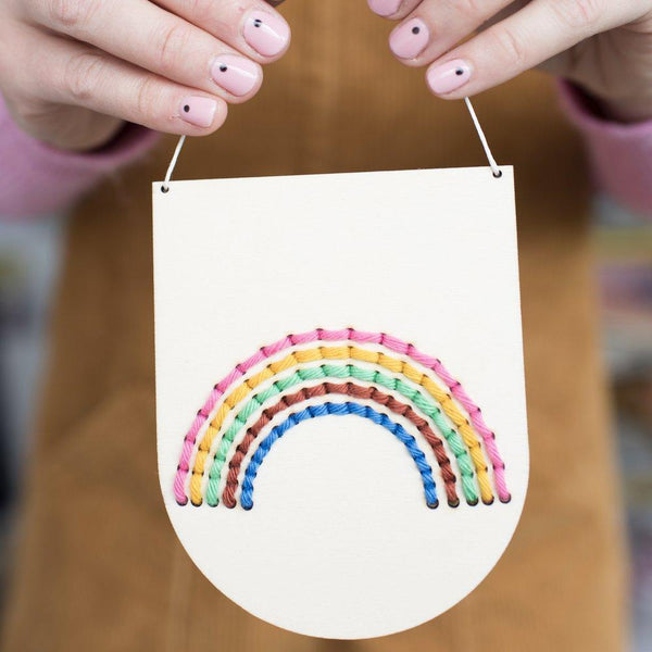 Cotton Clara Rainbow Banner Embroidery Kit