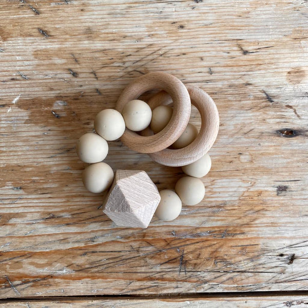 TITAN silicone teething toy - SANDSTONE