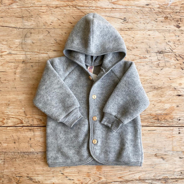 Engel Organic Wool Fleece Jacket - Light Grey