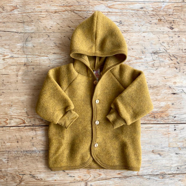 Engel Organic Wool Fleece Jacket - Saffron