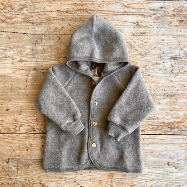 Engel Organic Wool Fleece Jacket - Walnut
