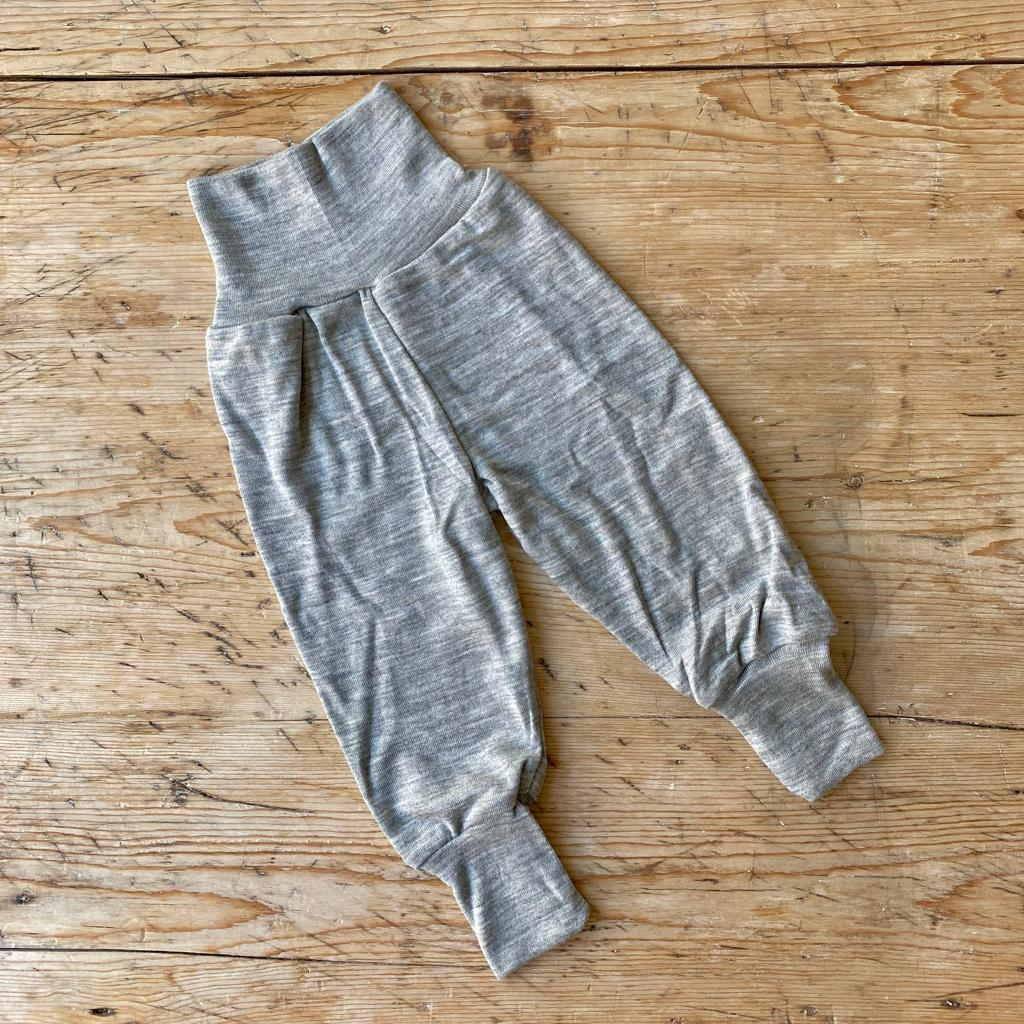 Engel Organic Wool & Silk Baby Pants - Light Grey
