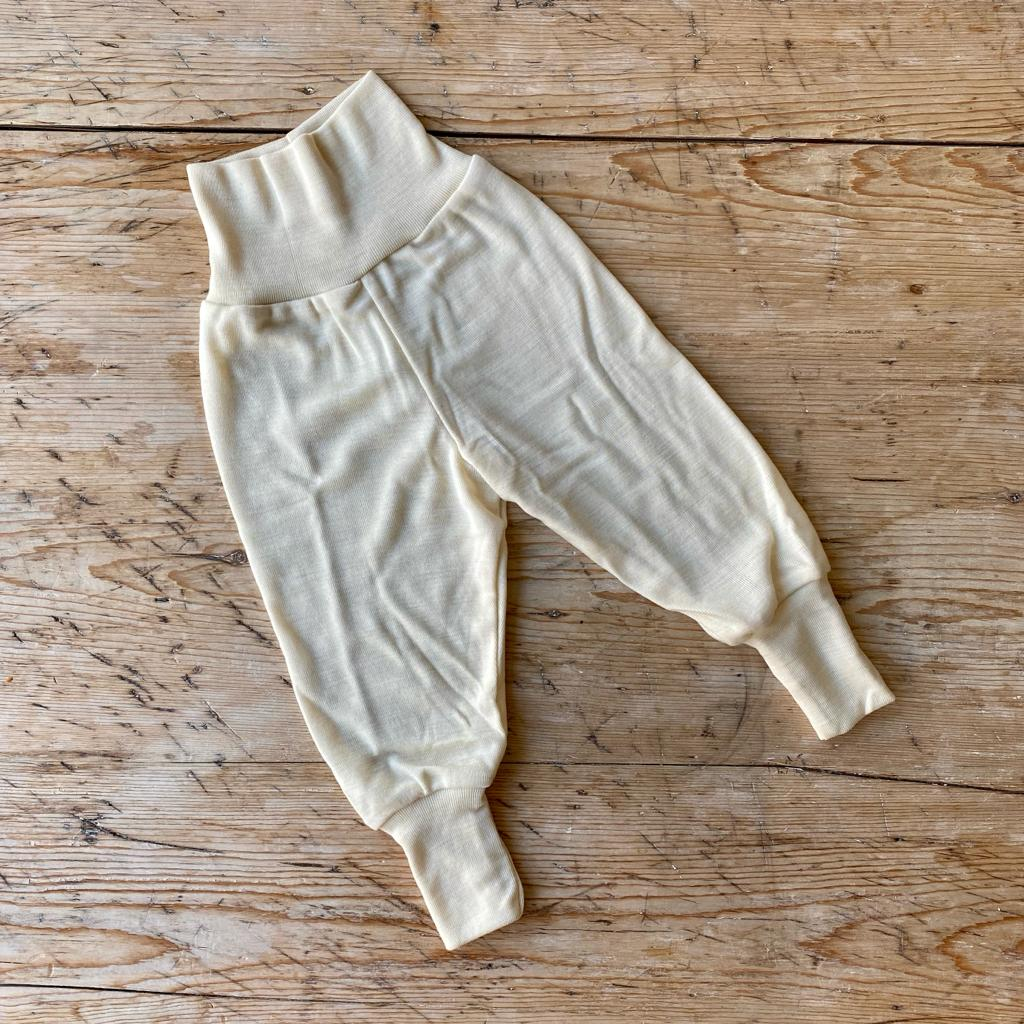 Engel Organic Wool & Silk Baby Pants - Natural