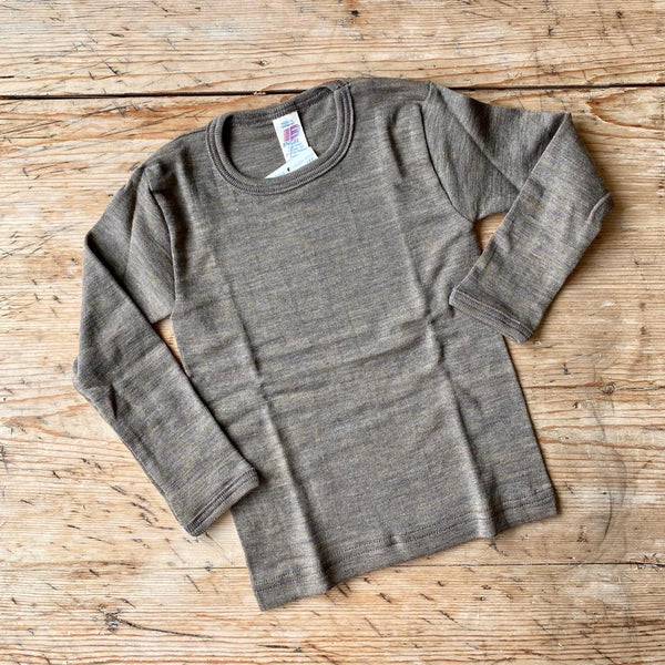 Engel Organic Wool & Silk Long Sleeve Top