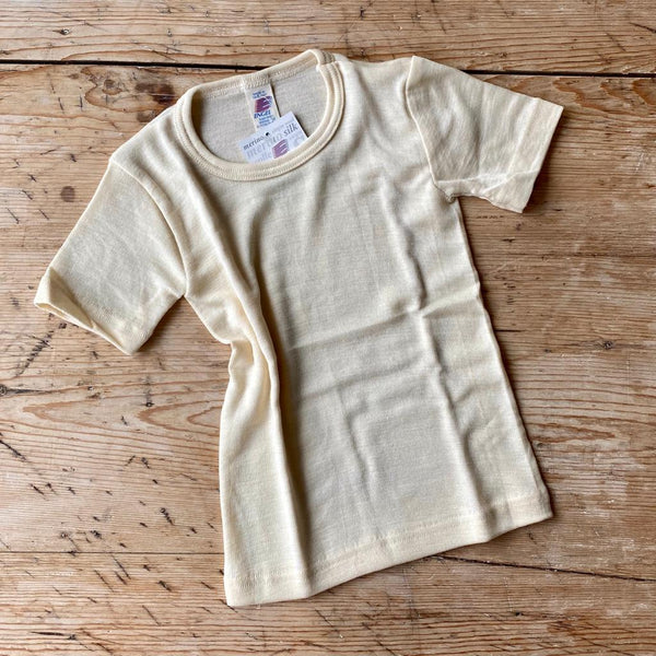 Engel Organic Wool & Silk Short Sleeve Top