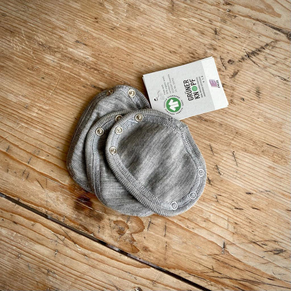 Engel Organic Wool & Silk Baby Body Extension - Light Grey