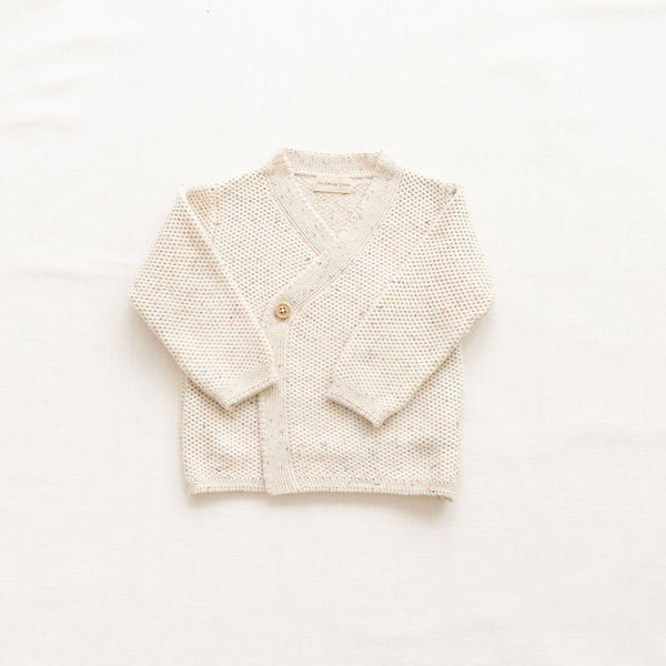 Fin & Vince knitted wrap cardigan confetti
