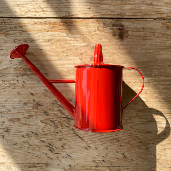 Metal Watering Can - Red