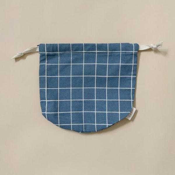 Organic Cotton Multi Bag Small - Check Ocean