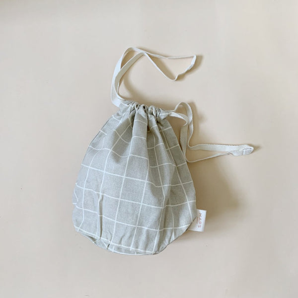 Organic Cotton Multi Bag Small - Check Oyster