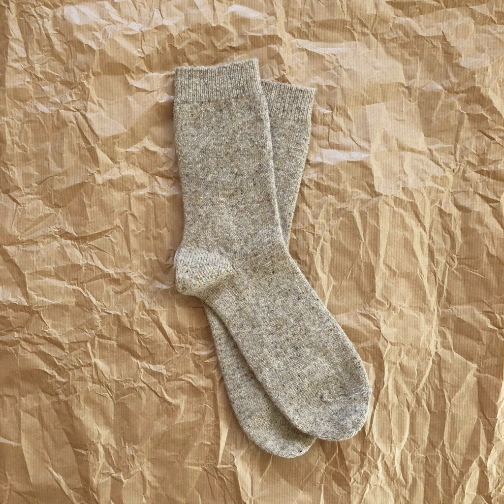 WOOLLY SOCKS - OATMEAL (size 36-39)