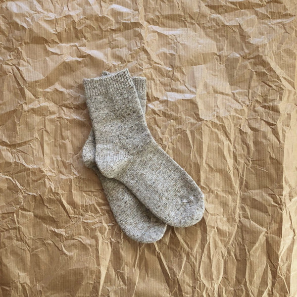 WOOLLY SOCKS - OATMEAL - 319