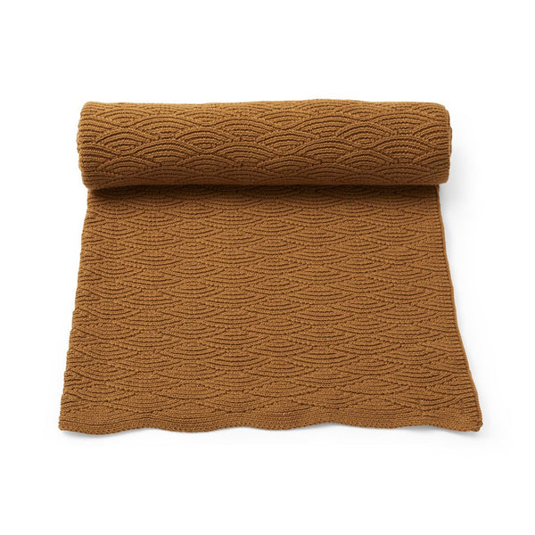 KONGES SLOJD ORGANIC COTTON POINTELLE BLANKET DIJON