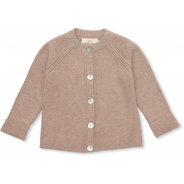 Konges Slojd ORGANIC COTTON MEO CARDIGAN BROWN MELANGE
