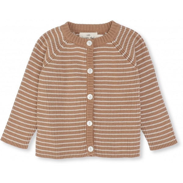 Konges Slojd ORGANIC COTTON MEO CARDIGAN SAHARA/RICE