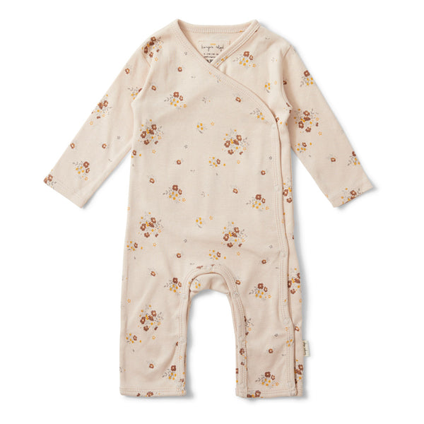 Konges Slojd Organic Cotton Newborn Onesie - Nostalgie Blush