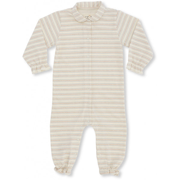 Organic Cotton Collar Onesie - Vintage Stripe