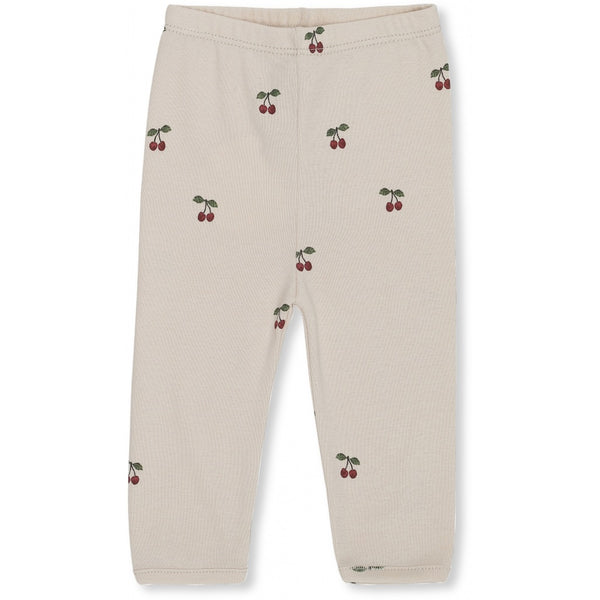 Konges Slojd Organic Cotton Newborn Leggings Cherry Blush