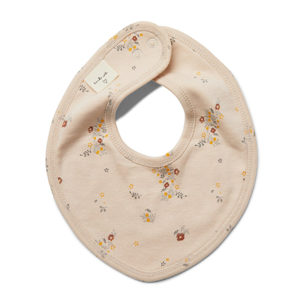 Konges Slojd Organic Cotton Newborn Bib - Nostalgie Blush