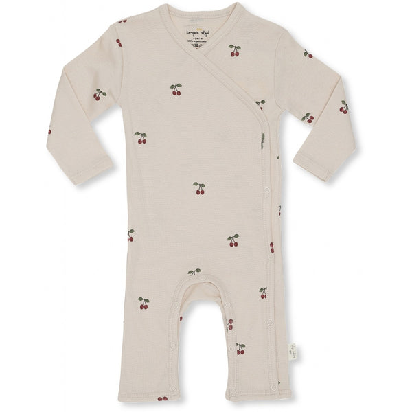 Konges Slojd Organic Cotton Newborn Onesie Cherry Blush
