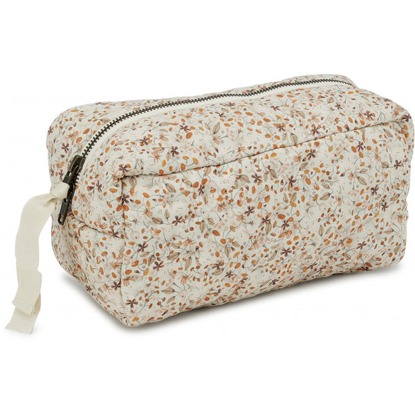 Organic Cotton Quilted Toiletry Bag - Flower Field