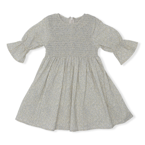 ORGANIC COTTON EMMA DRESS LEMONADE