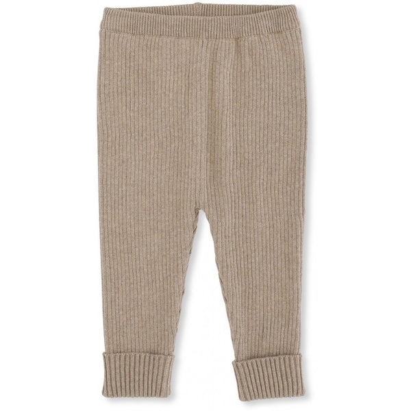 Konges Slojd ORGANIC COTTON KNIT MEO PANTS BROWN MELANGE